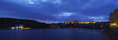 Prague castle at night Stock Photography