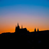 Prague Castle at night. Prague, Czech Republic Royalty Free Stock Images