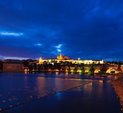 Prague castle at night Royalty Free Stock Photos