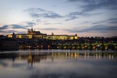 Prague Castle at night, Czech Republic.  Stock Photography