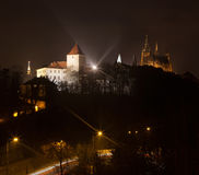 Prague Castle at night. Czech republic Stock Photos