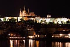 Prague Castle by night Stock Photos