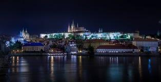 Prague castle at night. Photograph of Prague castle at night, Czech Republic stock photos