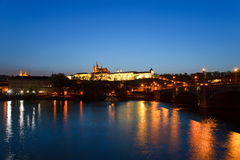 Prague Castle at night, Prague Stock Photography