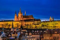 Prague Castle at Night Royalty Free Stock Photos