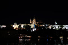 Prague Castle at night Stock Photo