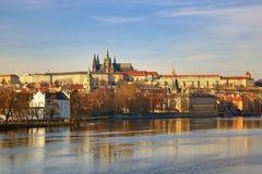 Prague Castle, Old Buildings, Moldau, Lesser Town, Prague, Czech Republic Royalty Free Stock Photo