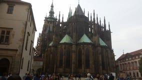 Prague - Castle. Old catholic building Stock Images