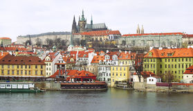 Prague castle and old town in Prague, Czech Republic Stock Photo