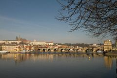 Prague castle panorama Royalty Free Stock Images