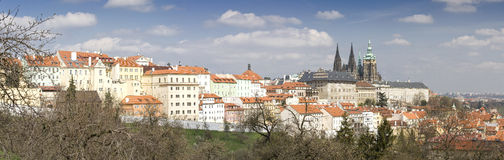 Prague Castle Panorama Stock Photos