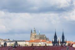 Prague castle panorama Stock Photos
