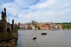 Prague Castle. Panorama in Czech republic Stock Photos