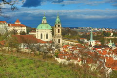 Prague Castle, Panorama of the Prague, lesser Town, Prague, Czech republic Royalty Free Stock Images