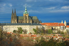 Prague Castle, Panorama of the Prague, lesser Town, Prague, Czech republic Stock Image