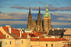 Prague Castle, Panorama of the Prague, lesser Town, Prague, Czech republic Stock Images