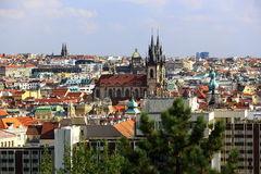 Prague Castle, Panorama of the Prague, lesser Town, Prague, Czech republic Royalty Free Stock Photography