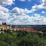 Prague Castle panoramic view royalty free stock photos