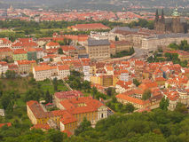 Prague castle from Petrin Royalty Free Stock Photo
