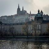 Prague Castle. The Prague Castle pictured vrom the bank of Vltava River Royalty Free Stock Images