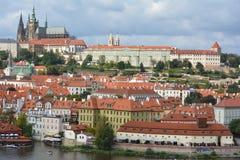 Prague Castle (Prazsky hrad) and view of Prague Royalty Free Stock Photos
