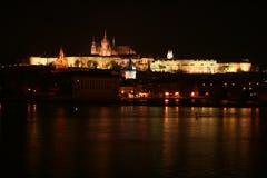 Prague Castle, Prague, Czech Republic. Prague Castle at night royalty free stock images