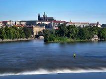 Prague Castle, Prague, Czech Republic. Prague Castle - view from Jirasek Bridge, Czech Republic, Europe Royalty Free Stock Images