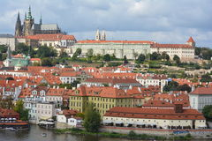 Prague Castle (Prazsky hrad) and view of Prague Royalty Free Stock Photos