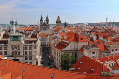 Prague Castle and Red Roofs, Czech republic Royalty Free Stock Images