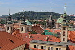 Prague Castle and Red Roofs, Czech republic Stock Photography