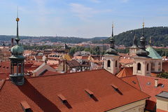 Prague Castle and Red Roofs, Czech republic Royalty Free Stock Photography