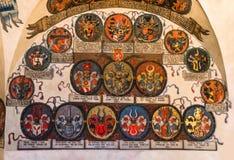 Prague Castle, Registry Office with czech heraldics. Stock Photos