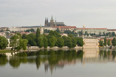 Prague Castle With River Stock Images