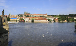 Prague Castle and river Vltava. Stock Photography