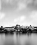 Prague castle with river Vltava, Czech Repu Stock Photography
