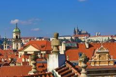 Prague Castle, Rott, Old Towen Hall, The Astronomical Clock on Old Towen Square, Prague, Czech Republic Stock Photography