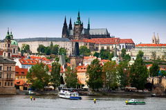 Prague castle and Saint Vitus cathedral Stock Photography