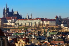 Landmark attraction in Prague: Prague Castle and Catholic Saint Vitus Cathedral, Czech Republic Stock Photo