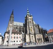 Prague castle and Saint Vitus Cathedral in Prague, Czech Republic Royalty Free Stock Photo