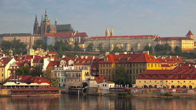 Prague Castle and Saint Vitus Cathedral stock video