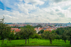 Prague Castle and Saint Vitus Cathedral, Czech Republic. Panoramic view Royalty Free Stock Photos