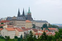 Prague castle. The seat of the president of the czech republic Royalty Free Stock Image