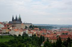 Prague castle. The seat of the president of the czech republic Stock Images