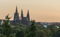 Prague castle, special angle stock photo