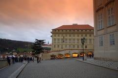 Prague castle square Stock Image