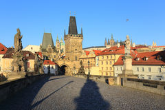 Prague Castle and St. Nicholas' Cathedral Stock Photos