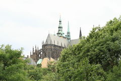 Prague Castle with St. Vithus Cathedral Royalty Free Stock Photography