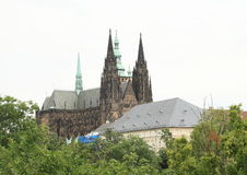 Prague Castle with St. Vithus Cathedral Royalty Free Stock Photo