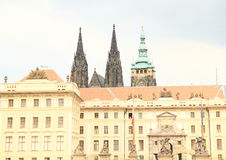 Prague Castle with St. Vithus Cathedral Royalty Free Stock Image