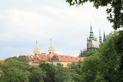 Prague Castle with St. Vithus Cathedral Stock Photos